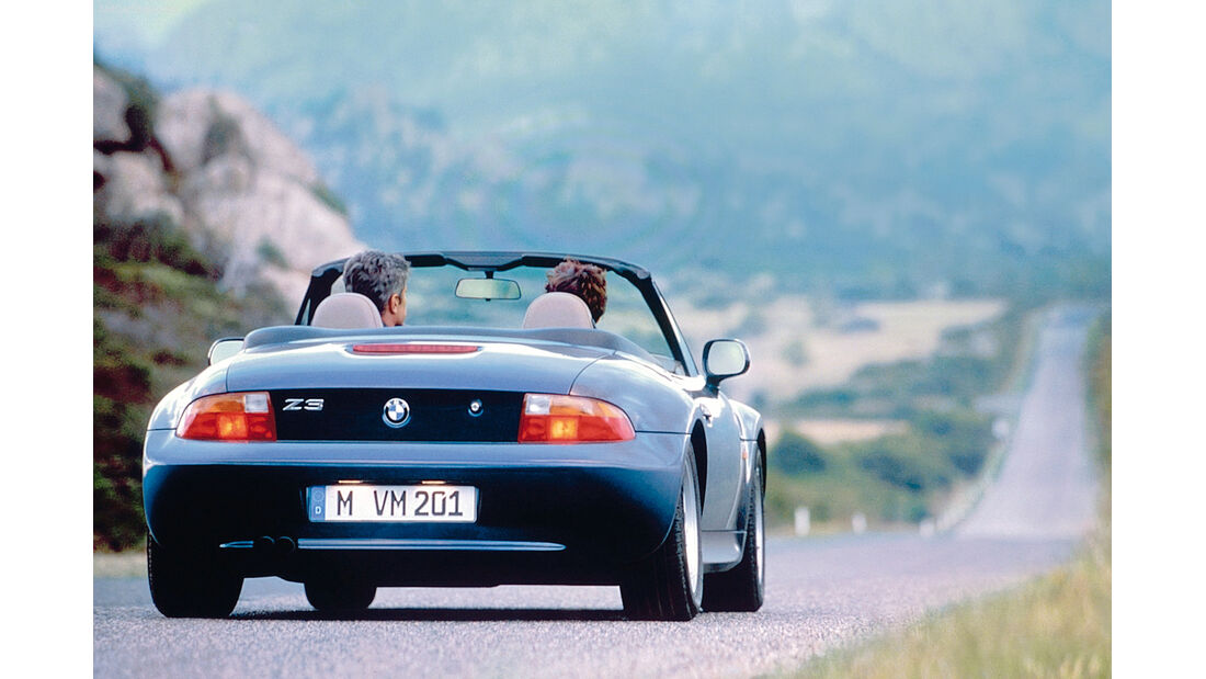 BMW Z3, Heckansicht