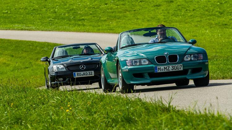 Bmw Z3 M Roadster Und Mercedes Slk 32 Amg Im Vergleich Auto Motor Und Sport