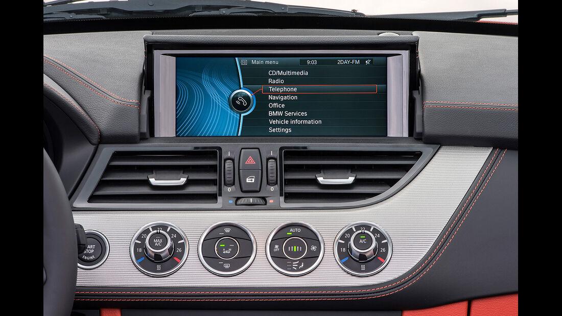 BMW Z4 Facelift 2013, Innenraum, Cockpit, Infotainmentsystem