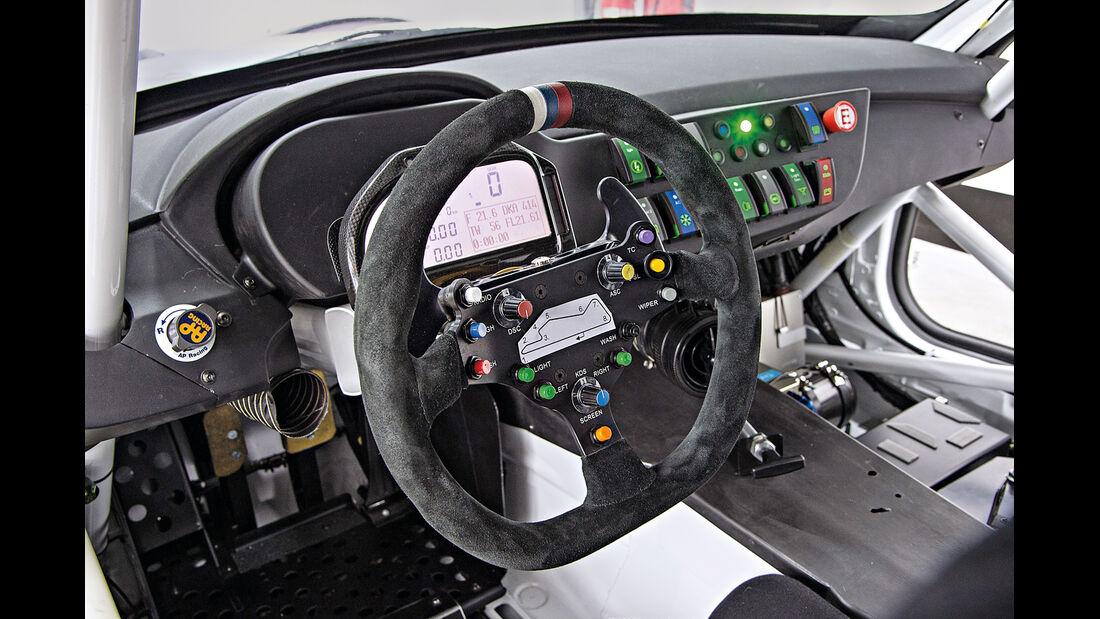 BMW Z4 GT3, Cockpit, Lenkrad