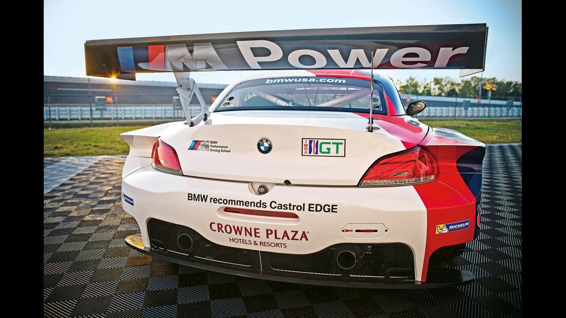 BMW Z4 GTE, Heckansicht, Heckspoiler