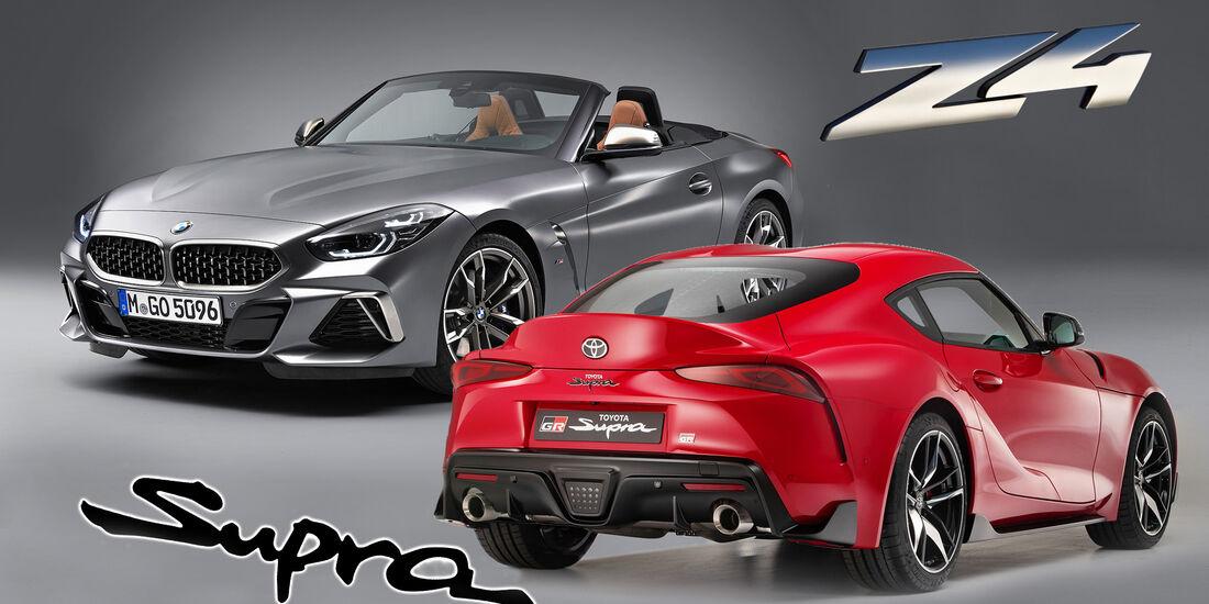 Bmw Z4 Vs Toyota Supra Welcher Sportwagen Ist Besser Auto Motor
