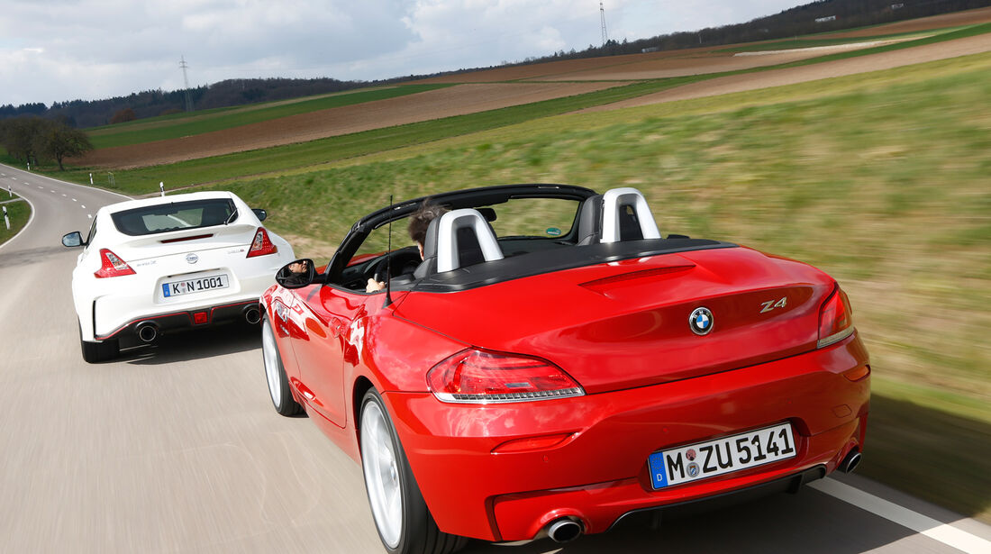BMW Z4 sDRIVE 35is, Nissan 370Z Nismo, Heckansicht