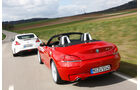 BMW Z4 sDRIVE 35is, Nissan 370Z Nismo, Heckansicht