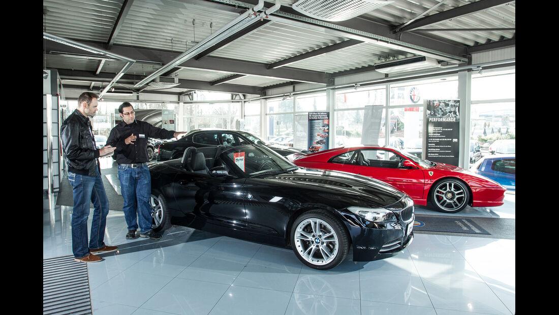 BMW Z4 sDrive 30i, Seitenansicht, Händler