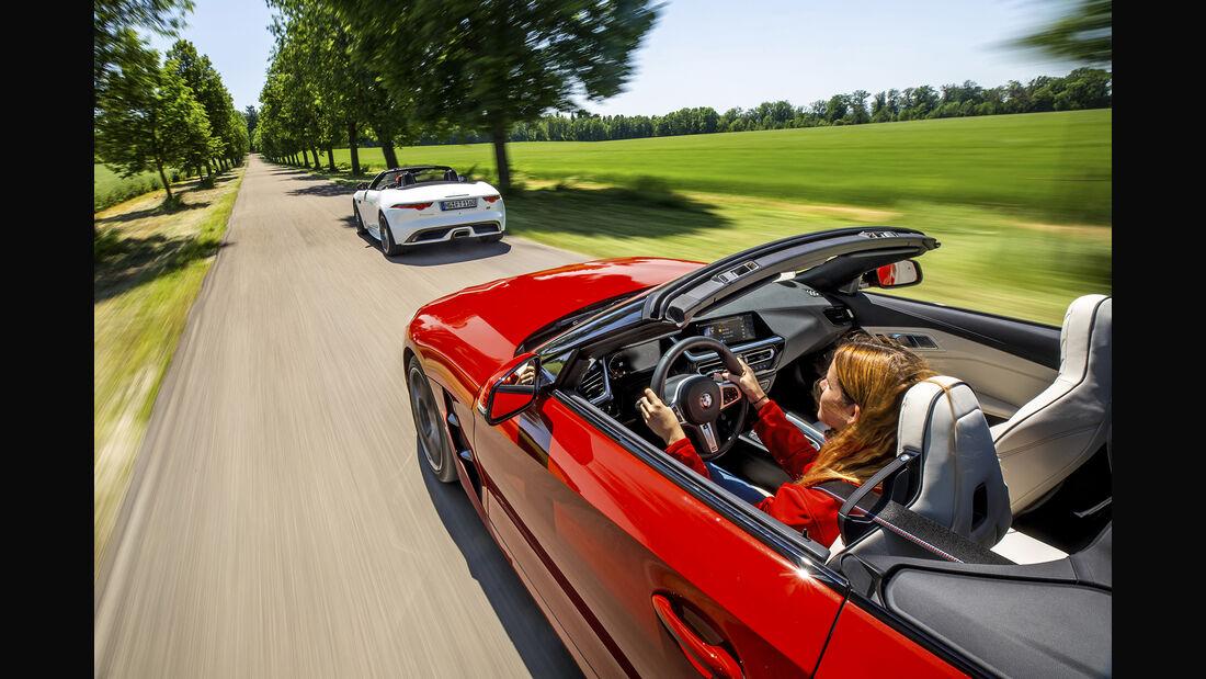 BMW Z4 sDrive 30iM Sport, Jaguar F-Type Cabrio P300 Chequered Flag, Exterieur