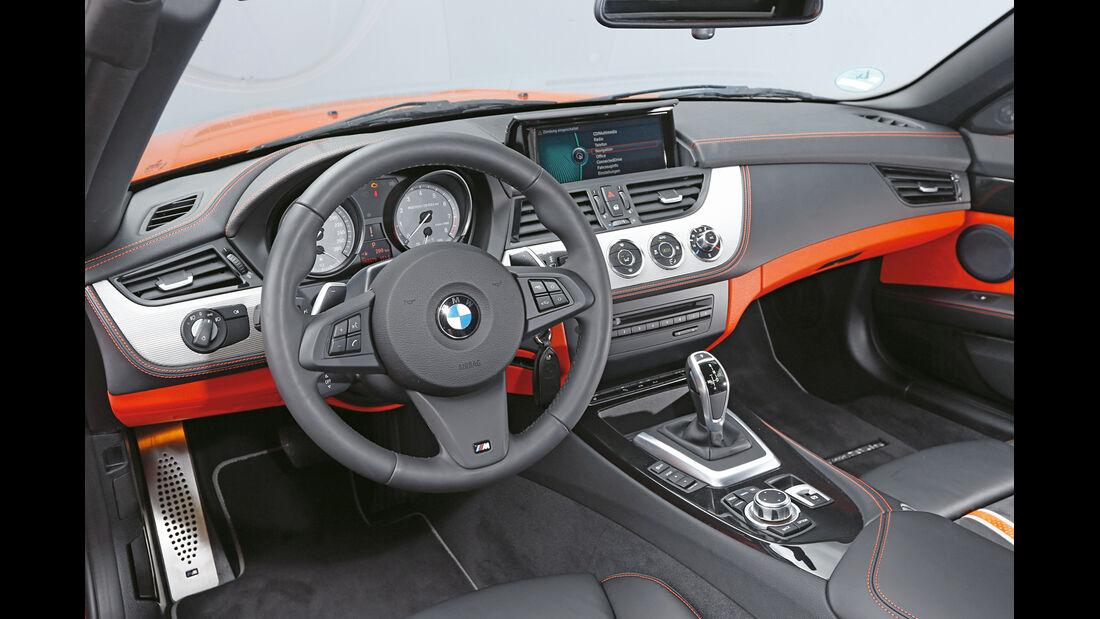 BMW Z4 sDrive 35is, Cockpit, Lenkrad