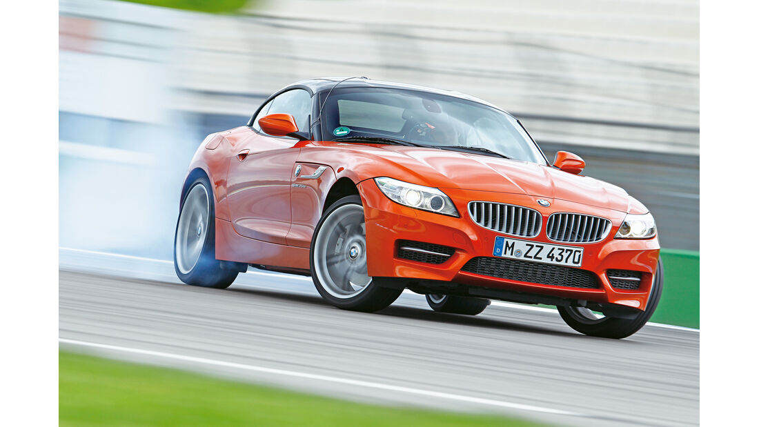 BMW Z4 sDrive 35is, Frontansicht, Driften