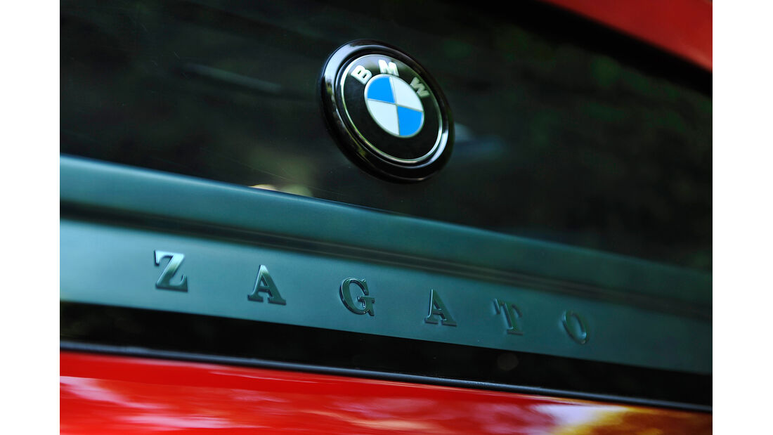 BMW Zagato Coupé, Emblem, Heck