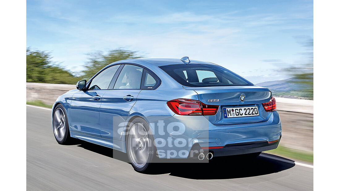 BMW Zweier Gran Coupe, Heckansicht