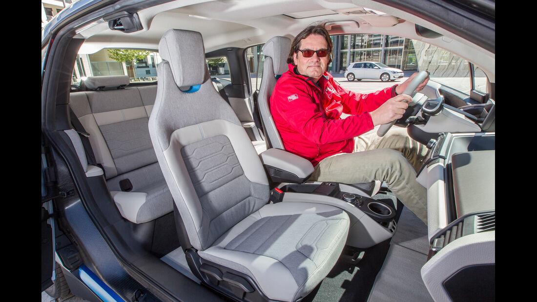BMW i3, Cockpit, Sitze