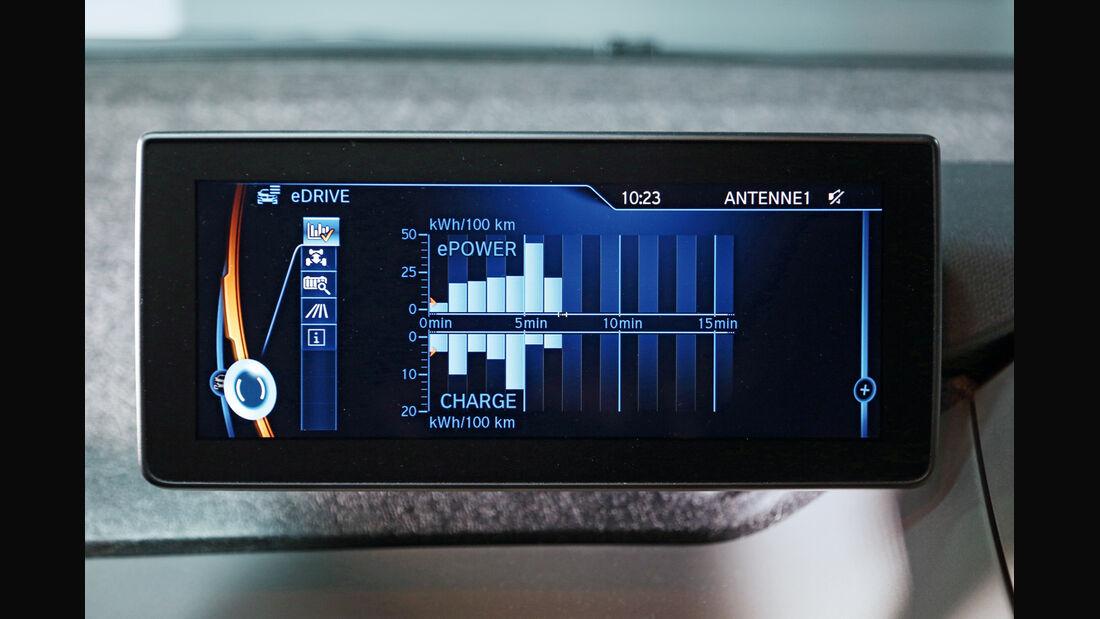 BMW i3, Display, Verbrauch