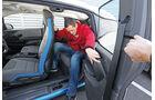 BMW i3, Fondsitz, Aussteigen