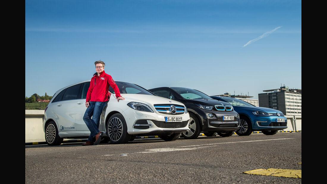BMW i3, Mercedes B-Klasse Electric Drive, VW e-Golf, Dirk Gulde