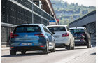 BMW i3, Mercedes B-Klasse Electric Drive, VW e-Golf, Heckansicht