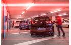 BMW i3, Mercedes B-Klasse Electric Drive, VW e-Golf, Heckansicht