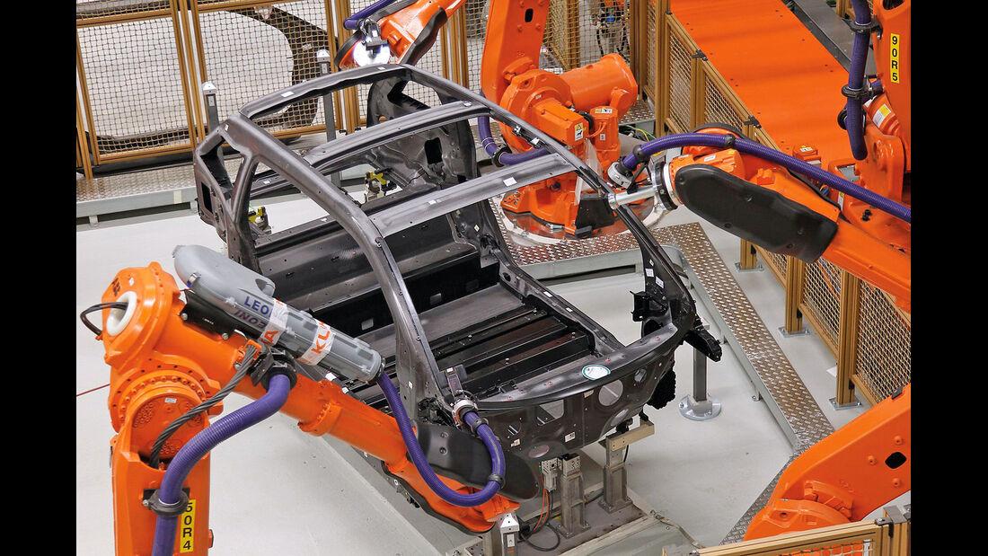 BMW i3, Produktion, Roboter