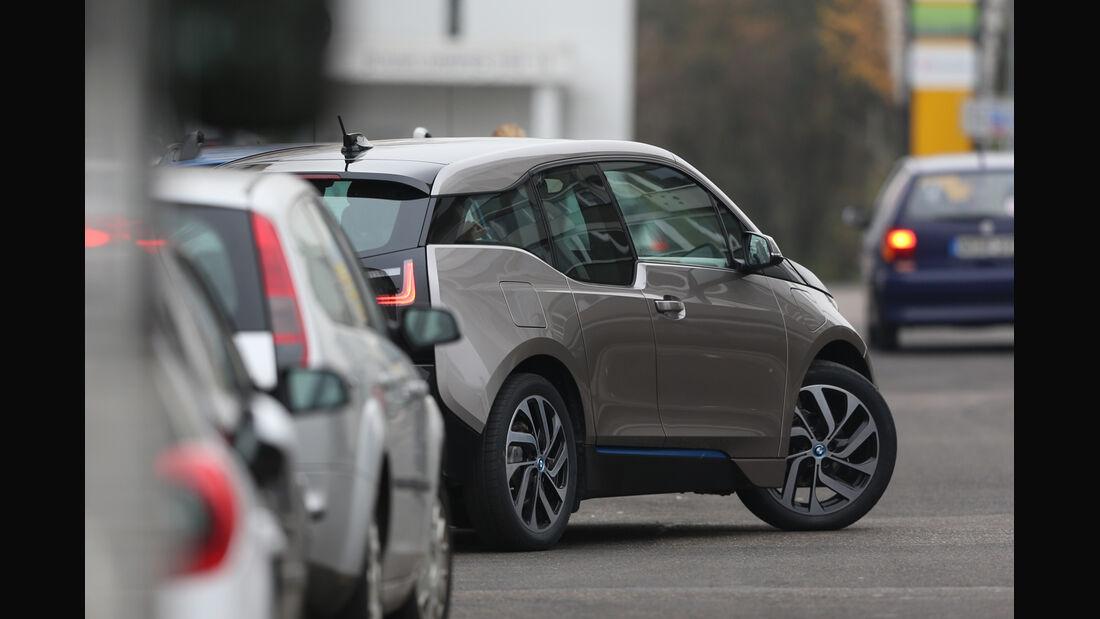 BMW i3 Range Extender, Einparken, Heckansicht