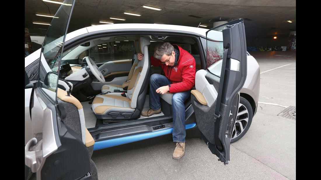 BMW i3 Range Extender, Fondsitz, Aussteigen