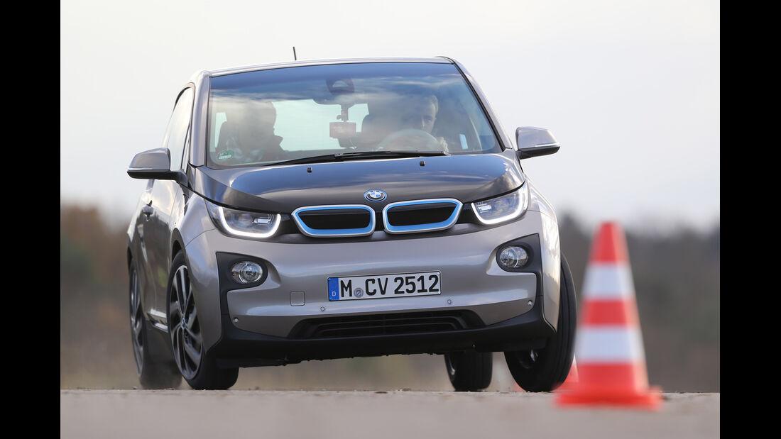 BMW i3 Range Extender, Frontansicht, Slalom