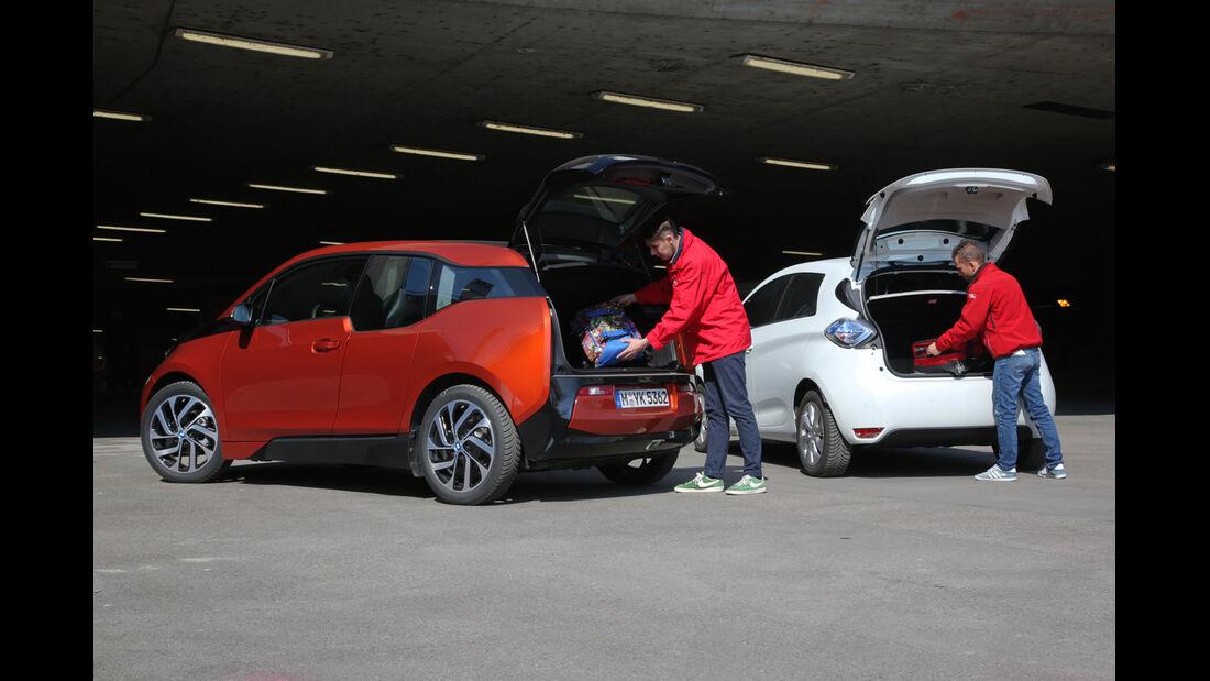 BMW i3, Renault Zoe Intense, Heckklappe