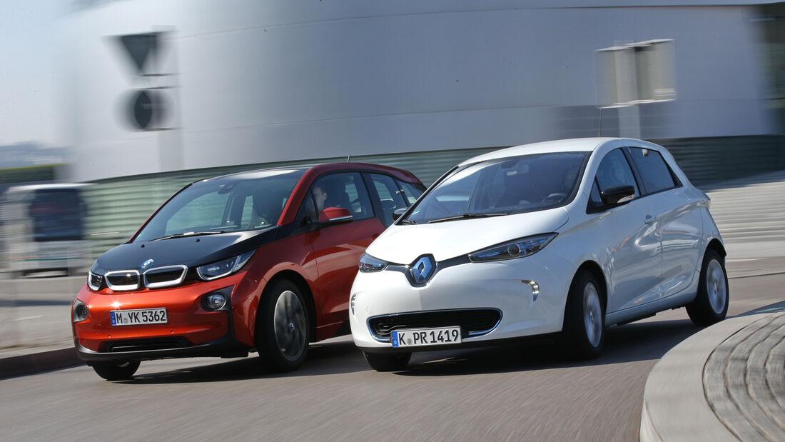 BMW i3, Renault Zoe Intense, Seitenansicht