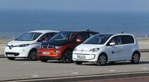 BMW i3, Renault Zoe, VW E-Up, Seitenansicht