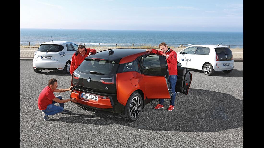 BMW i3, Renault Zoe, VW E-Up, Tester