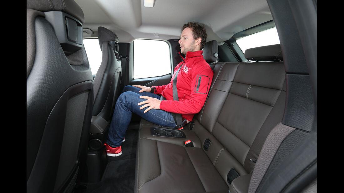 BMW i3, Rücksitz, Beinfreiheit