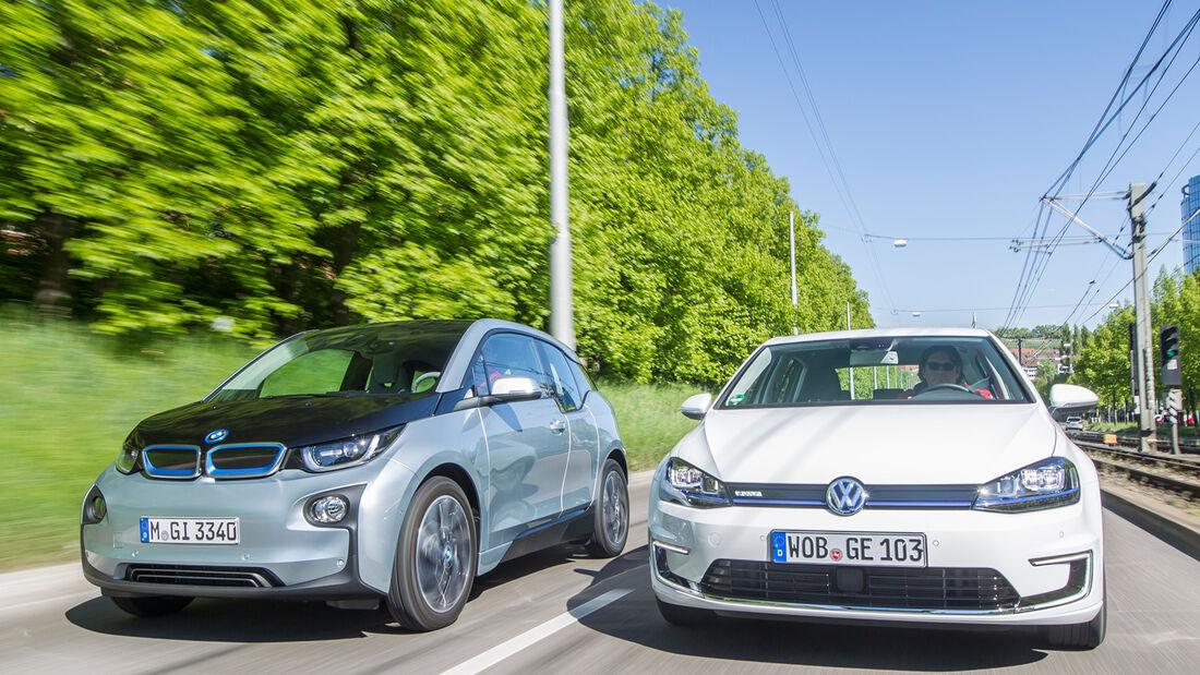 BMW i3, VW e-Golf, Frontansicht