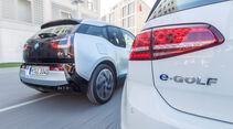 BMW i3, VW e-Golf, Heckansicht