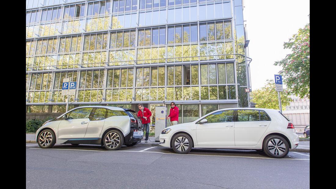 BMW i3, VW e-Golf, Seitenansicht