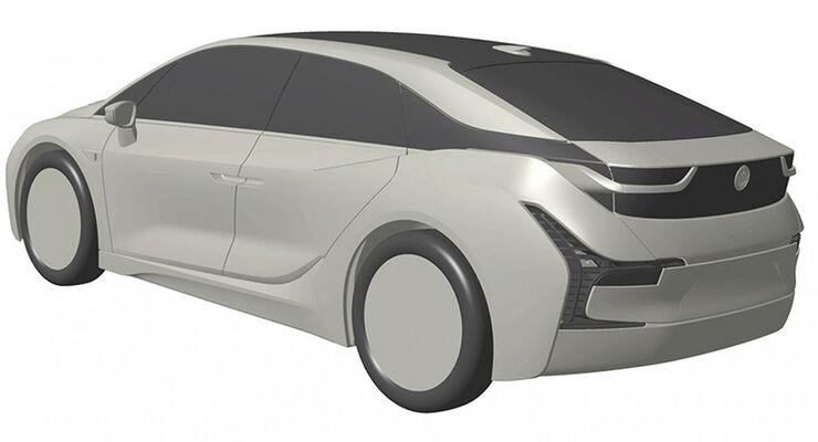 BMW i5 Patentamtzeichnungen