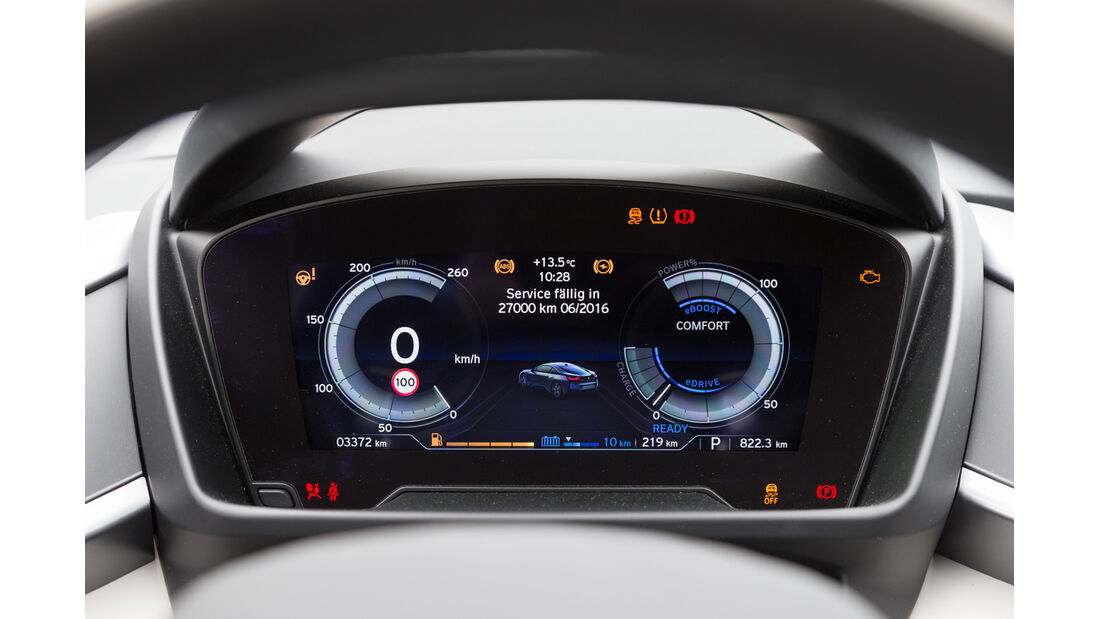 BMW i8, Comfort-Modus, Display