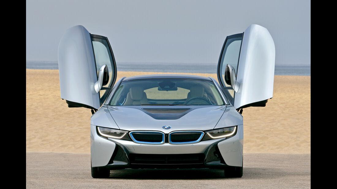 BMW i8, Frontansicht, Scherertüren