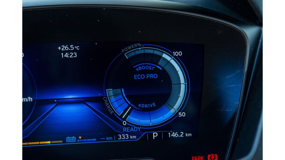 BMW i8, Infotainment, Eco-Anzeige