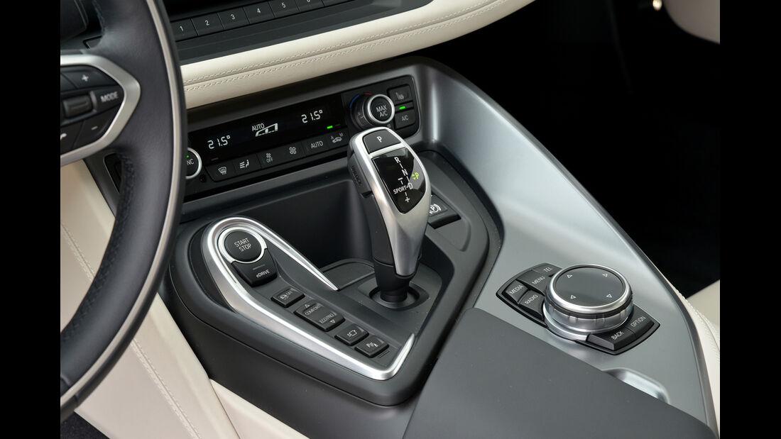 BMW i8, Mittelkonsole, Bedienelemente