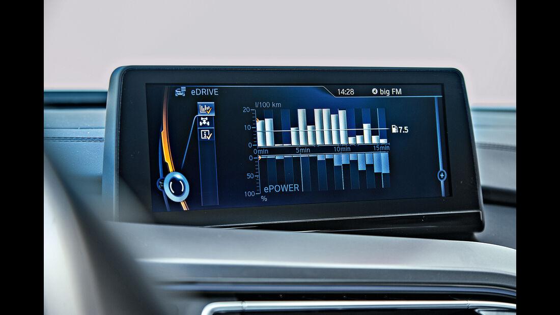 BMW i8, Monitor, Eco-Anzeige