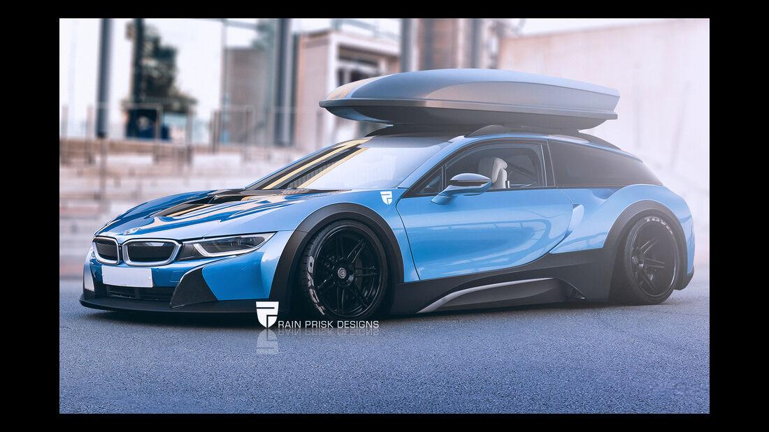 BMW i8 - Photoshop - Shooting Brake - Rain Prisk 2015