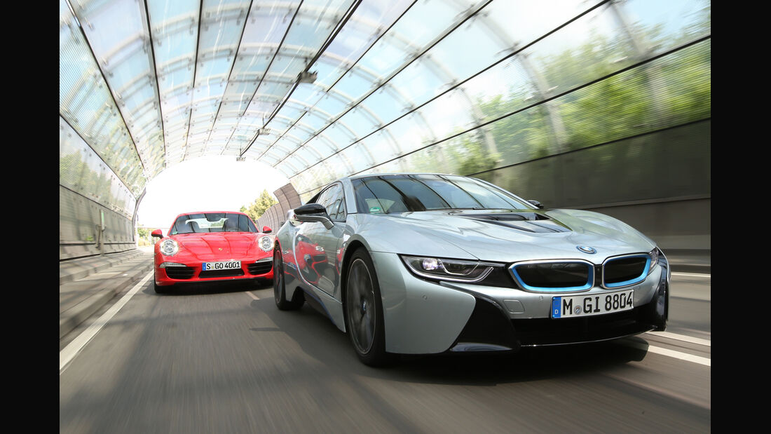 BMW i8, Porsche 911 Carrera S, Frontansicht