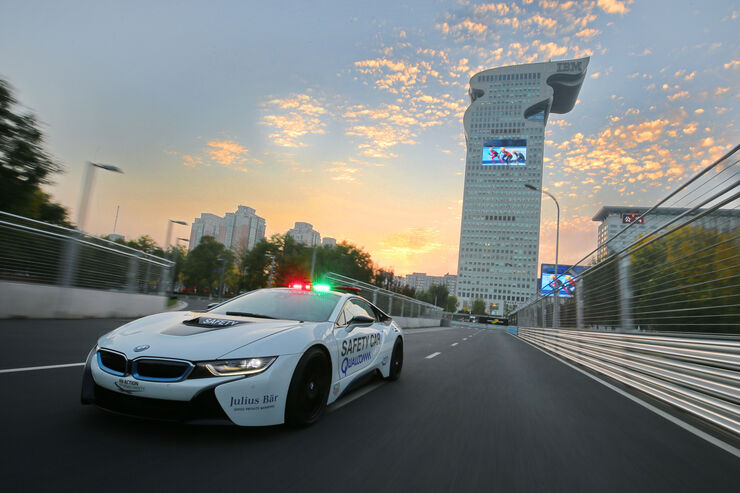 BMW i8 Safety Car, Frontansicht