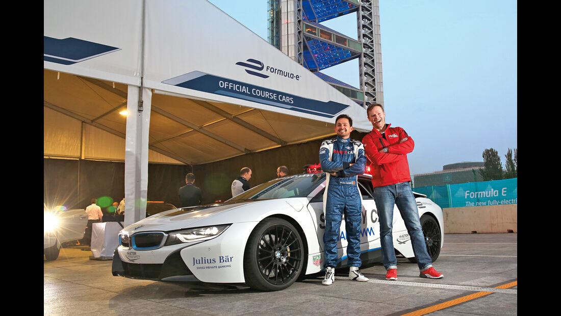 BMW i8 Safety Car, Seitenansicht, Bruno Correias