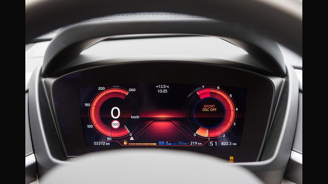BMW i8, Sportmodus, Display