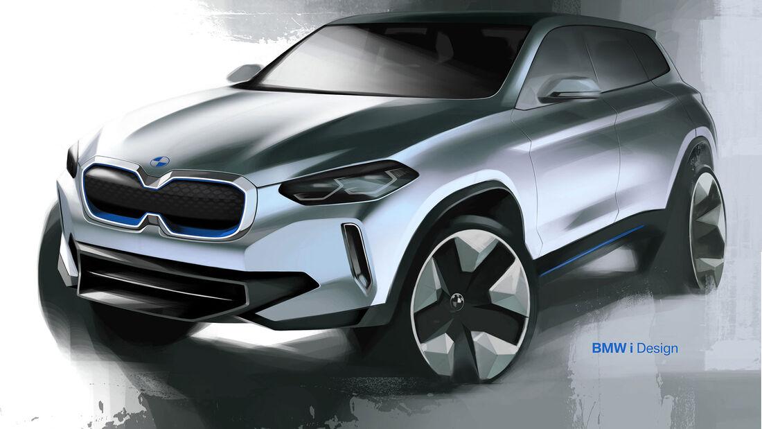 BMW iX3 Designzeichnung