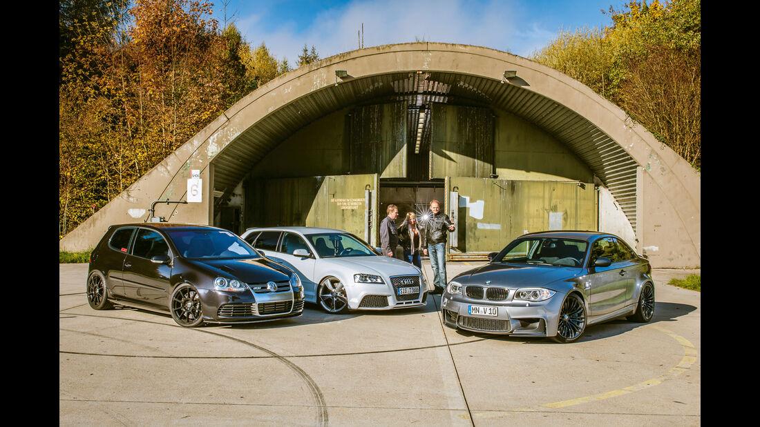 BTRS-AUDI RS 3 Sportback, TJ-BMW Einser M Coupé V10, BTRS-VW Golf R32