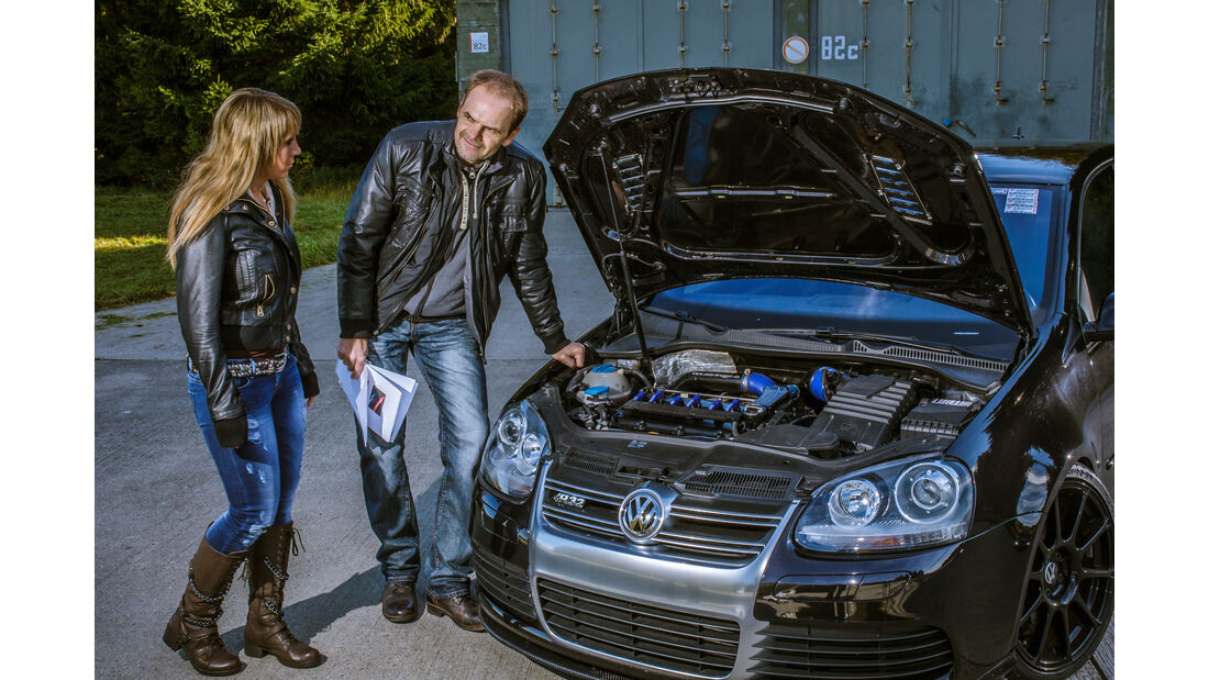 BTRS-VW Golf R32, Motorhaube