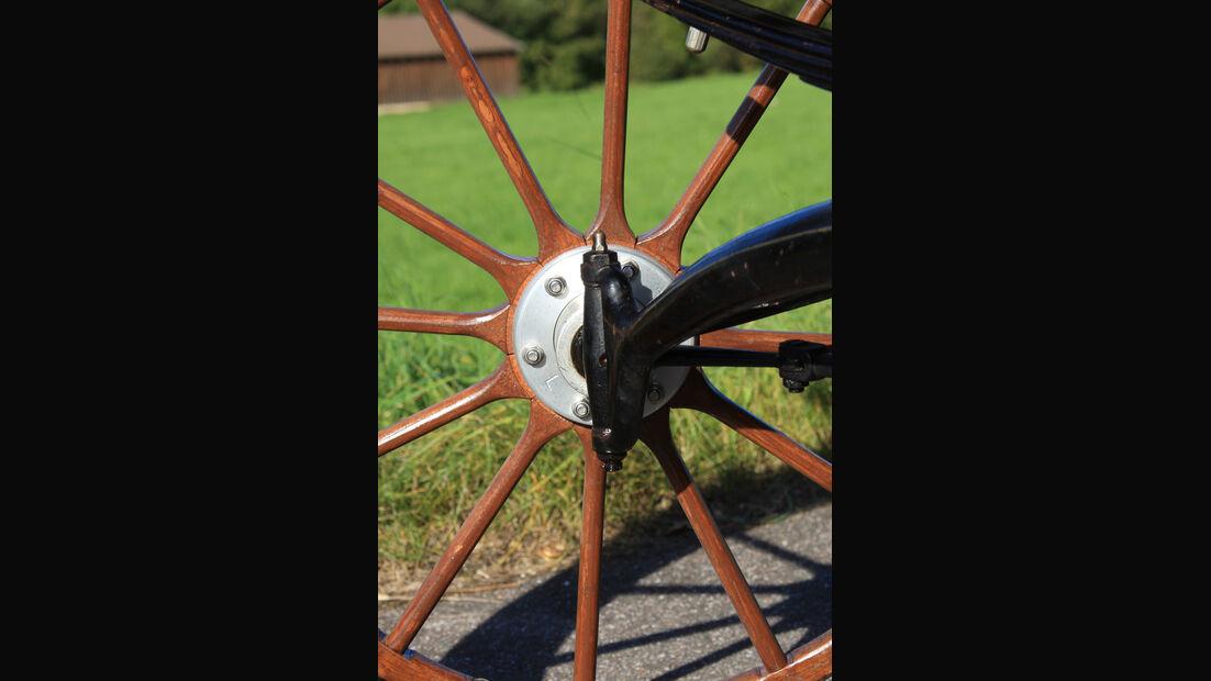 Baker Electric 1904, Rad, Detail