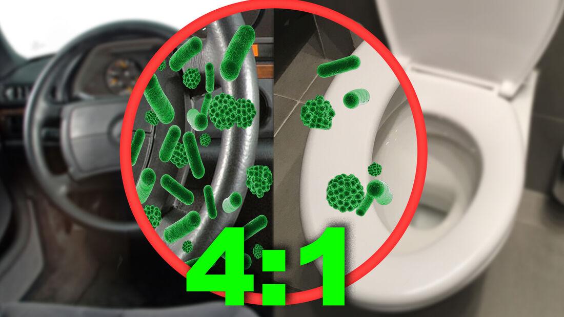 Bakterienbefall im Auto