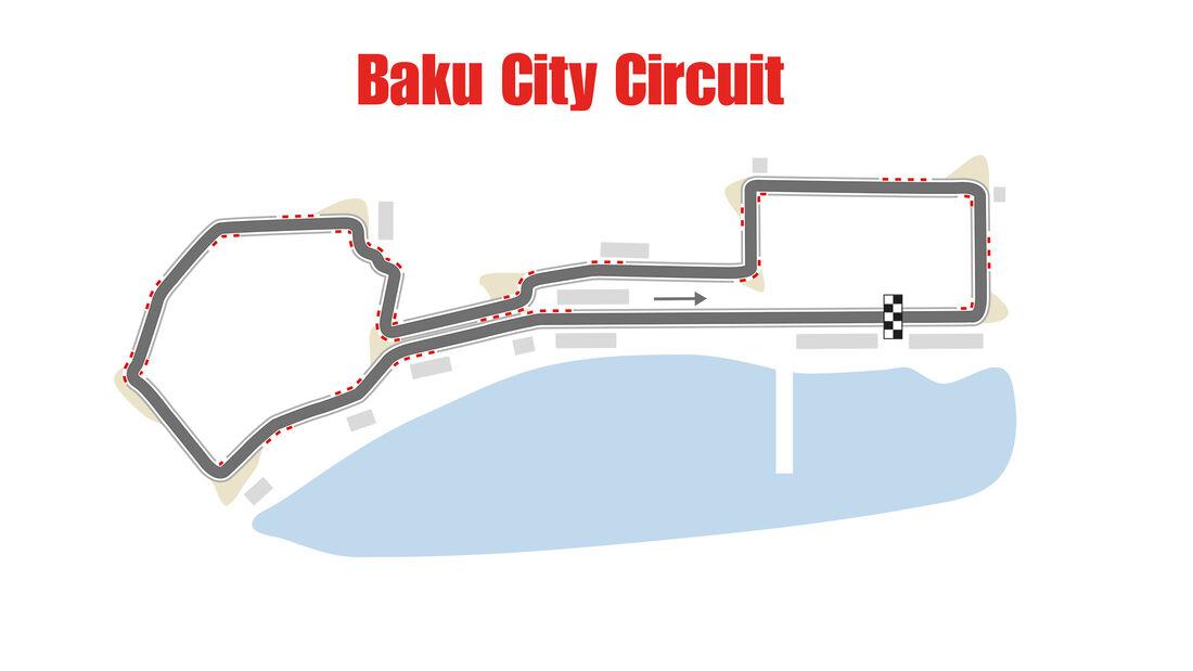 Baku City Circuit - Formel 1 - Rennstrecke