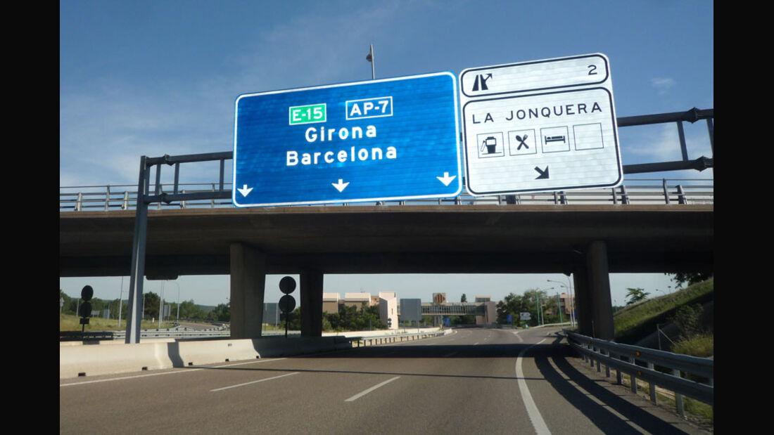 Barcelona Autobahn-Schild